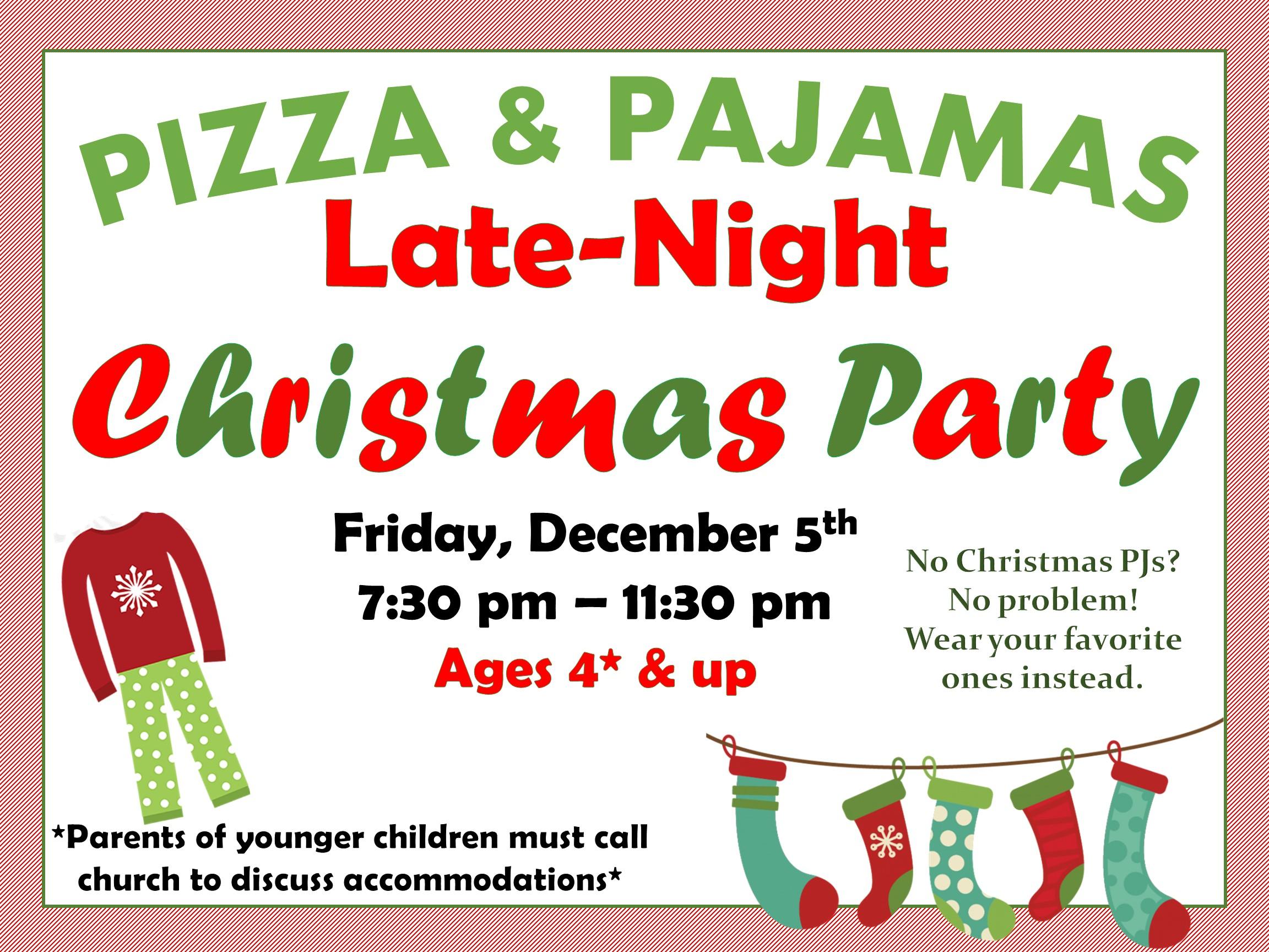 christmas party 2014 - Christmas Pajama Party