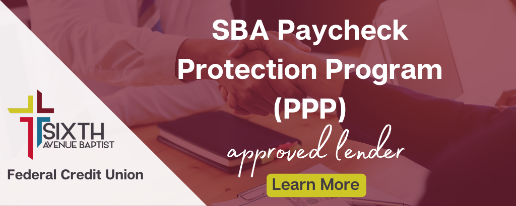 6th PPP - approved lender banner